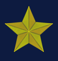 Embroidery star vector