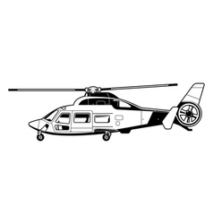 Passenger helicopter vector