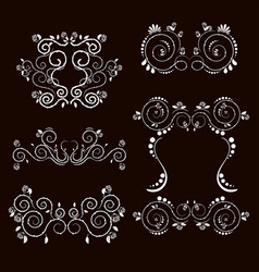 Vintage frames and scroll elements2 vector