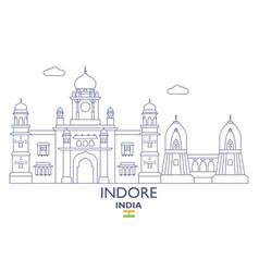 Indore city skyline vector