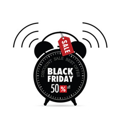 Clock with black friday on it vector