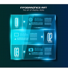 Infographic design template with glass surfaces vector