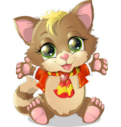Little kitten vector