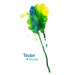 Watercolor colorful stain vector