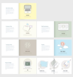 Set of flyer brochure design templates for busine vector