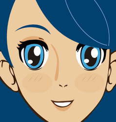 Manga face vector