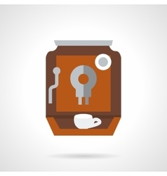 Brown coffee maker flat color design icon vector