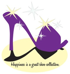 High heel happiness vector