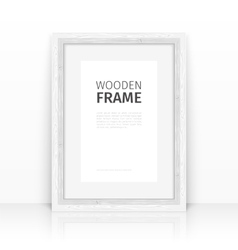 White frame on a glossy surface vector