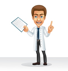 Cartoon character to profession doctor vector