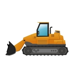 Backhoe machine icon vector