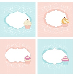 Set of greetings cards vector