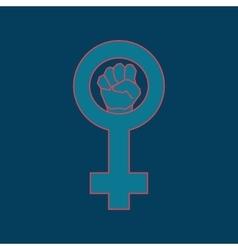 Blue feminism symbol vector