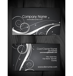 beautiful floral design business card template vector image vector image