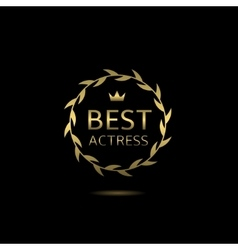 Best actress wreath vector image vector image