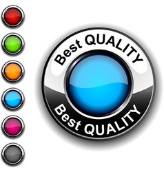 Best quality button vector image vector image
