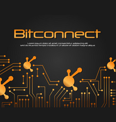 Bit connect bitcoin blockchain background vector