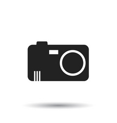 Camera icon on isolated background flat vector