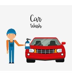 Car wash design vector