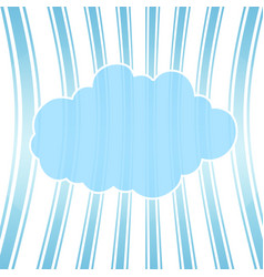Cartoon cloud with shadow on striped background vector
