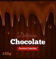 Dark chocolate background print vector image vector image