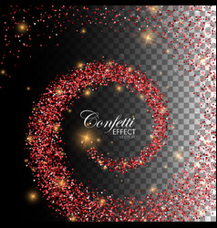 decoration confetti element for design vector image vector image