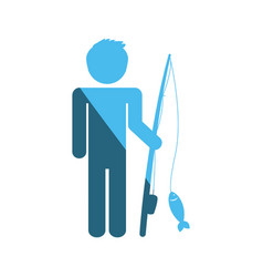 Fisherman pictogram symbol vector