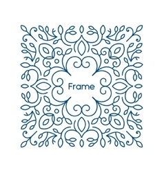 floral frame with copy space for text in vector image