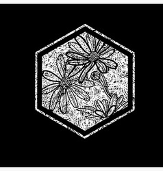 Floral logo 03 grunge vector