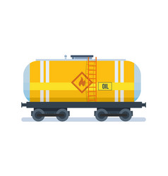 freight traffic transportation of oil in wagon vector image vector image