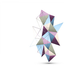 Geometric handcraft paper isolated abstract vector