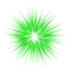 green abstract explosion design background vector image vector image