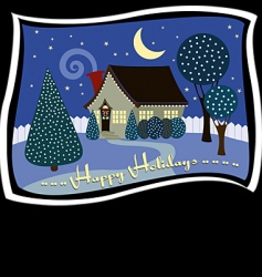 holiday cottage vector image