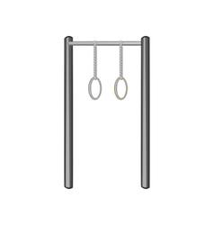 Horizontal bar with climbing rings icon vector image vector image