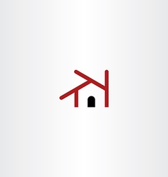 house icon element design symbol vector image vector image