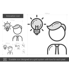 Innovation line icon vector