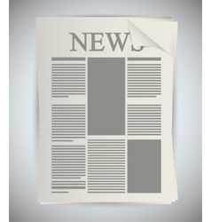 Isolated newspaper article design vector image