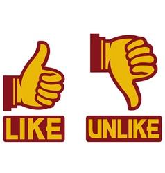 Like Unlike Sign vector image