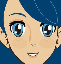 Manga face vector