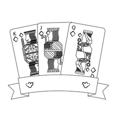 Poker casino jack queen king card gambling banner vector