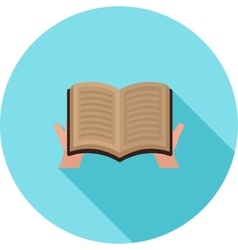 Reading holy book vector