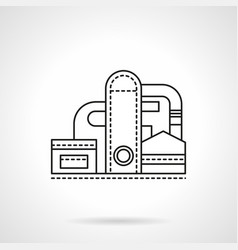 Refinery plant flat line icon vector