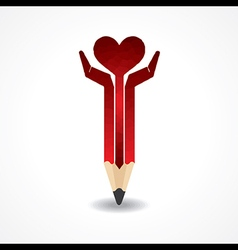Save life concept with pencil hands stock vector image vector image