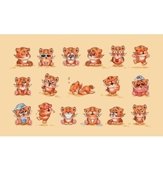 Set of tiger cubs vector