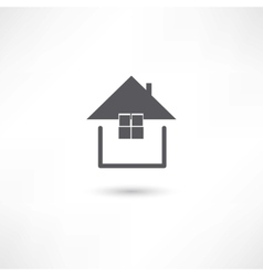 Simple house symbol vector