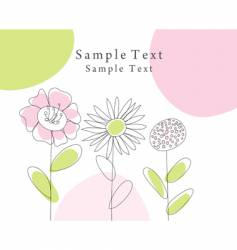 sketch greeting card vector image vector image