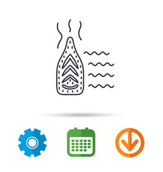 steam ironing icon iron housework tool sign vector image