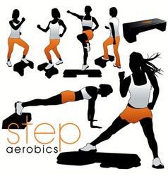 step aerobics vector image vector image