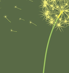 The dandelion which is blown a wind on a light vector