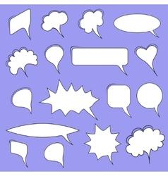 Trendy speech bubbles vector image